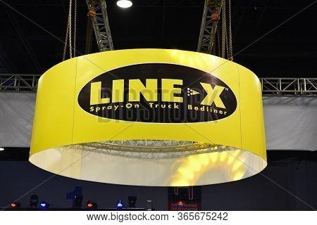 Pasay, Ph - Nov 30 - Line X Sign At Manila Auto Salon Car Show On November 30, 2018 In Pasay, Philip
