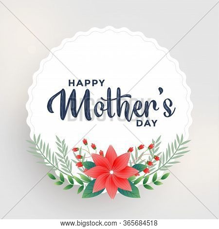 Sweet Happy Mothers Day Flower Greeting Card Design