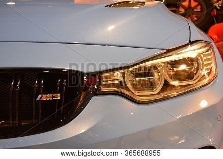 Pasay, Ph - Nov 30 - Bmw Car Headlight At Manila Auto Salon Car Show On November 30, 2018 In Pasay,