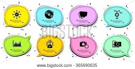 Recovery Photo, Speech Bubble And Recovery Computer Signs. Chat Bubbles With Quotes. Vinyl Record, S
