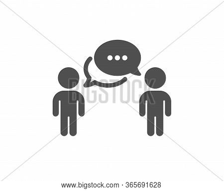 Consulting Business Icon. Discussion Or Consultation Sign. People Communication Management Symbol. C