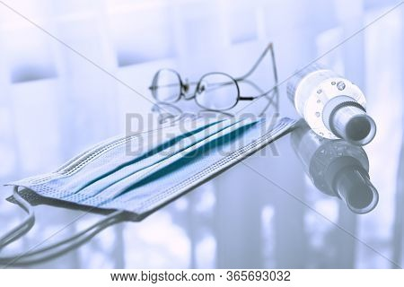 Disposable Medical Mask, Hand Sanitizer And Spectacles