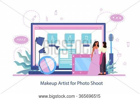 Make Up Online Service. Make Up Artist Web Site