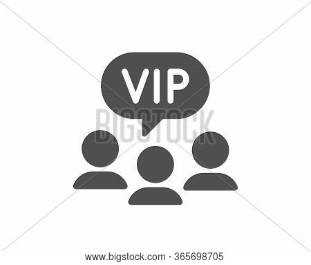 Vip Clients Icon. Very Important Person Sign. Member Club Privilege Symbol. Classic Flat Style. Qual