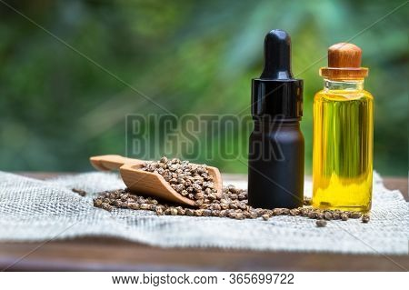 Cbd Oil Hemp Products. Cbd Oil Cannabis Extract, Medical Cannabis Concept.