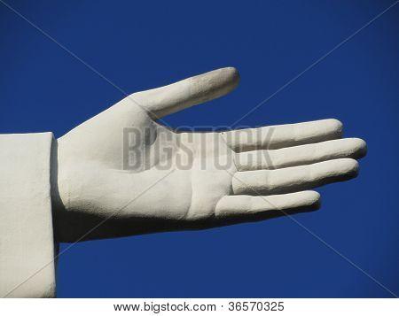 Statue hand