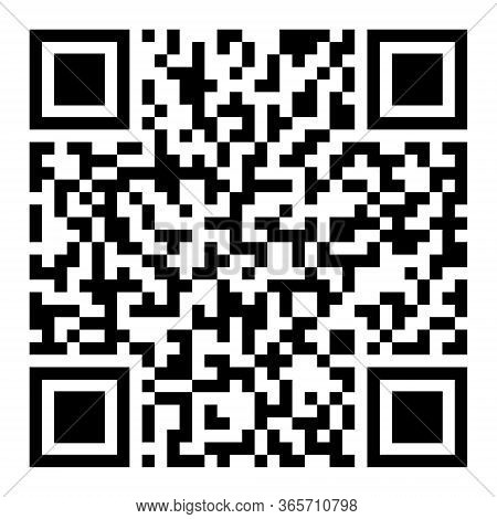 Black Scan Code Icon For Mobile. Qr Code For Checkout Of Product. Pixel Barcode Information For Smar
