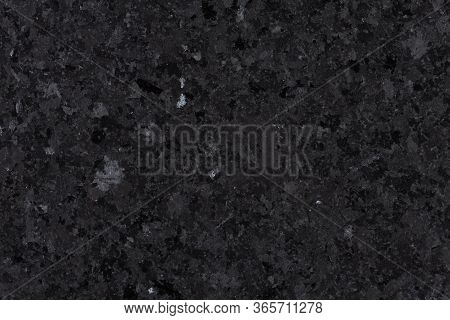 Black Granite Tile Texture, Background From Natural Stone.