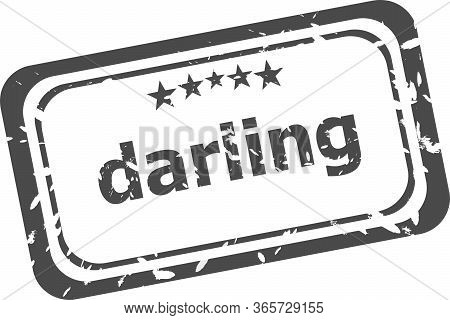 Darling Word On Rubber Old Business Stamp