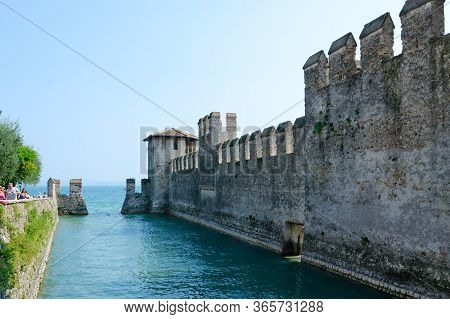 Sirmione, Italy - September 16, 2018: Castle Of Scaligers (built In Second Half Of 12th - Early 13th