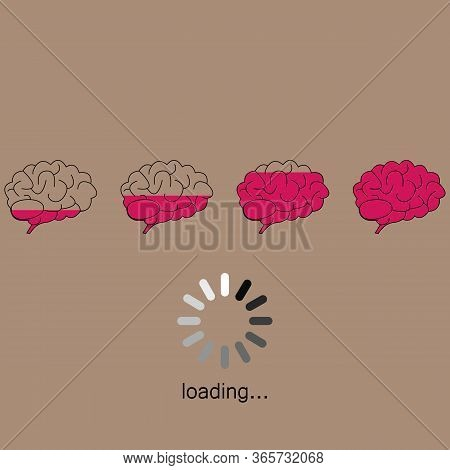 Brain Loading Icon - Pink Marrow - Wisdom