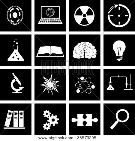 Vector illustration on the theme of science