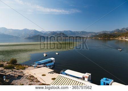 Montenegro, National Park Skadar Lake - September, 21 2018: A Beautiful Landscape View At Lake Skada