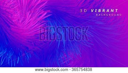 Blue Flow Futuristic Liquid. Color Modern Poster. Neon Dynamic Template. Pink Creative Movement. Blu