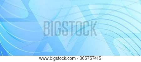 Blue Gradient Background. 3d Flow Lines Poster. Curve Business Movement. Light Dynamic Illustration.