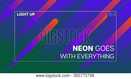 Funky Neon Blend Vector Background. Fluid Neon Bright Trendy Landing Page. Pearlescent Noble Vector