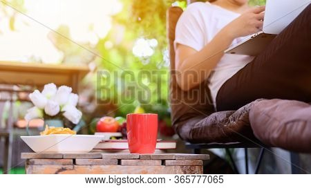 Work From Home (wfh). Lock Down And Self-quarantine At Home. Social Distancing And Physical Distanci
