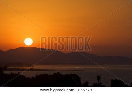 Golden Sunrise Over Port Of Marbella