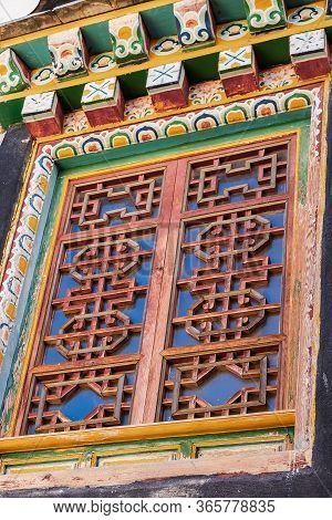 Window In Songzanlin Temple Or The Ganden Sumtseling Monastery Also Known As Little Potala Palace In