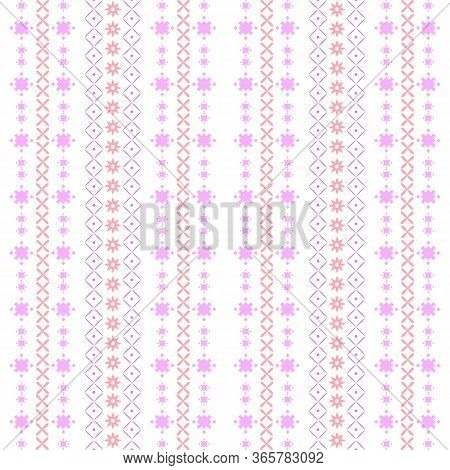 Modern Stitches Pattern On Embroidery Design For Living Room Wall Decor.