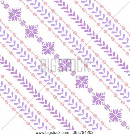 Beautiful Colorful Ornament On Embroidery Design For Bedroom Decorative.