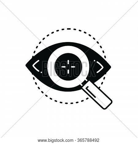 Black Solid Icon For Eye-test Optometrist Eyesight Retina Eye Checkup