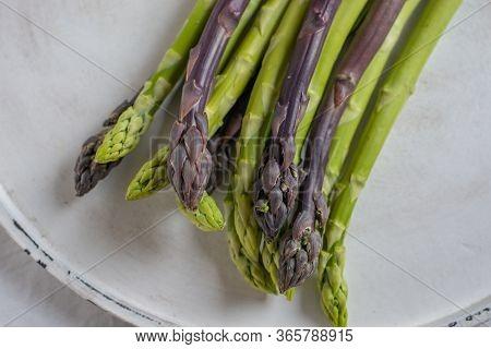 Asparagus. Fresh Asparagus. Green Asparagus. Bunches Of Green Asparagus