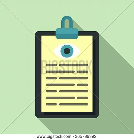 Eye Examination Card Icon. Flat Illustration Of Eye Examination Card Vector Icon For Web Design