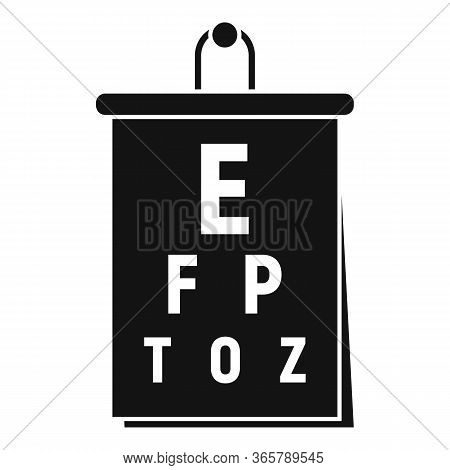 Eye Examination Banner Icon. Simple Illustration Of Eye Examination Banner Vector Icon For Web Desig