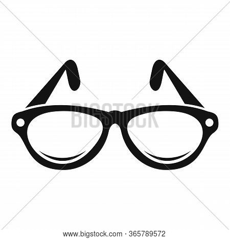 Examination Eyeglasses Icon. Simple Illustration Of Examination Eyeglasses Vector Icon For Web Desig