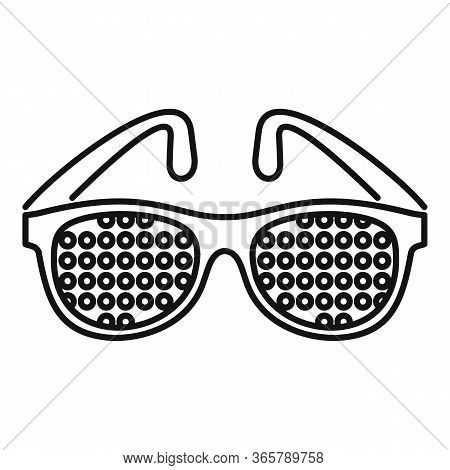 Examination Control Eyeglasses Icon. Outline Examination Control Eyeglasses Vector Icon For Web Desi