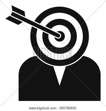 Headhunter Target Icon. Simple Illustration Of Headhunter Target Vector Icon For Web Design Isolated