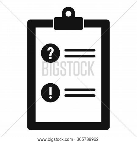 Advice Form Card Icon. Simple Illustration Of Advice Form Card Vector Icon For Web Design Isolated O