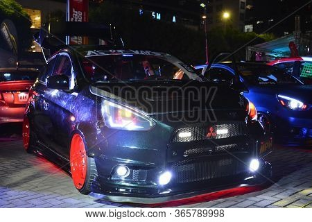 Pasay, Ph - Dec 8 - Mitsubishi Mirage Hatchback At Bumper To Bumper Car Show On December 8, 2018 In