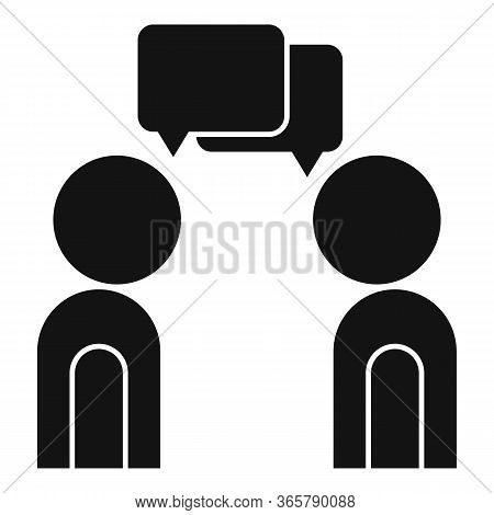 Customer Talking Icon. Simple Illustration Of Customer Talking Vector Icon For Web Design Isolated O