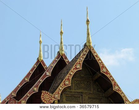 Gable Roof Of The Temple
