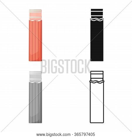 Vector Design Of Chewing And Stick Symbol. Graphic Of Chewing And Fruit Stock Symbol For Web.