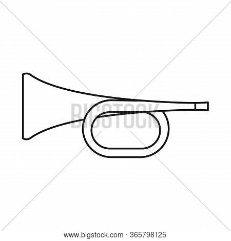 Vector Illustration Of Trumpet And Music Icon. Graphic Of Trumpet And Orchestra Stock Vector Illustr