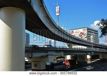 Quezon City, Ph - Dec 8 - Fly Over Bridge At Edsa On December 8, 2018 In Quezon City, Philippines. E