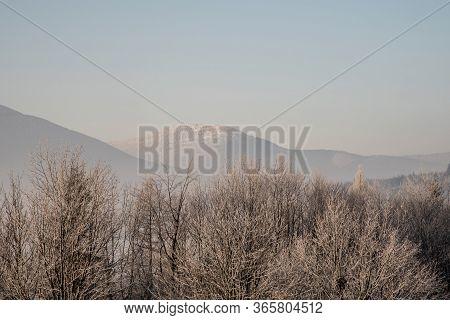Knehyne Hill From Butoranka Bellow Lysa Hora Hill In Moravskoslezske Beskydy Mountains In Czech Repu