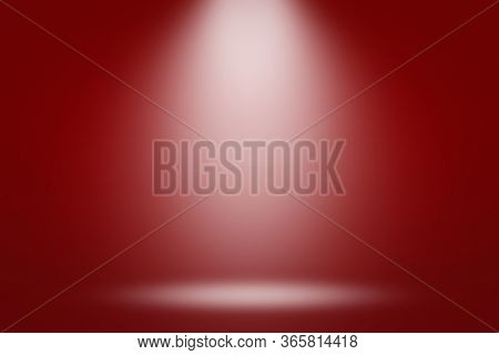 Abstract Red Background With A Gradient And Emulation Of Light From A Lantern. Can Be Used For Prese