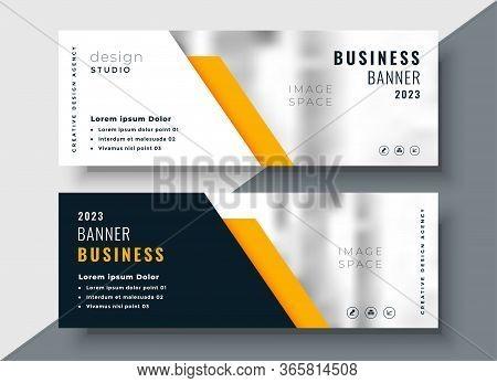 Elegant Yellow Professional Business Banner Template Vector Design Illustration