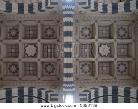 Ceiling Of The Prophet'S Mosque In Madinah