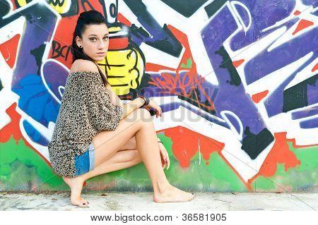 girl with graffiti