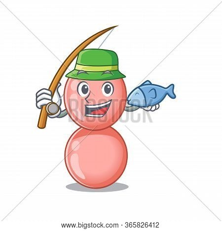 Cartoon Design Concept Of Neisseria Gonorrhoeae While Fishing