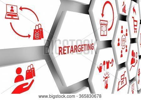 Retargeting Concept Cell Background 3d Render Illustration