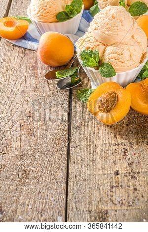 Sweet Apricot Ice Cream