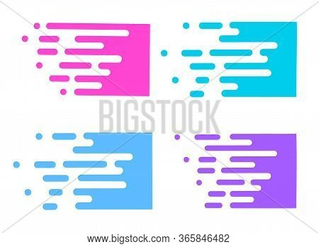 Line Transition Pattern Background, Abstract Irregular Geometric Texture. Vector Multicolor White Co