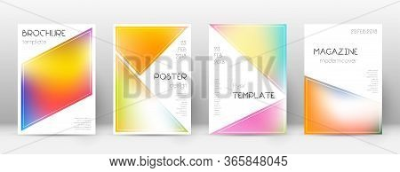 Flyer Layout. Triangle Mesmeric Template For Brochure, Annual Report, Magazine, Poster, Corporate Pr