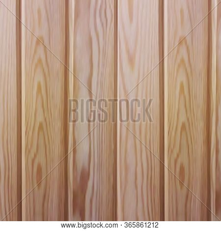 Vector Wooden Planks In The Style Of Realism. Environmentally Friendly Lining For Saunas And Steam R